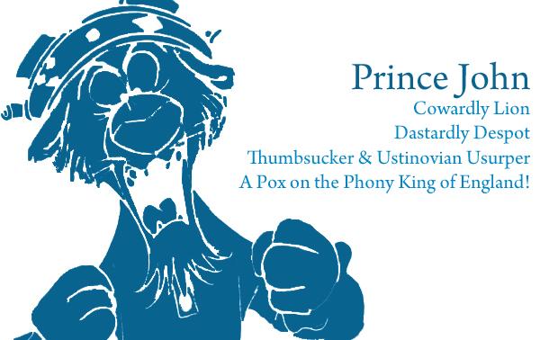 Robin Hood Cinquains Prince John