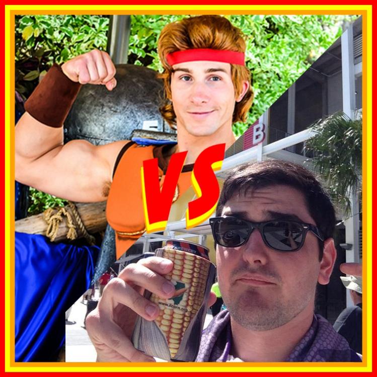 Disneyland Hercules vs. Steve Reid